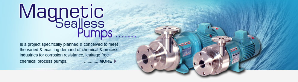 Magnetic Sealless Pumps PMP-150, Magnetic Sealess Pumps Manufacturer, Maharashtra, Mumbai, India